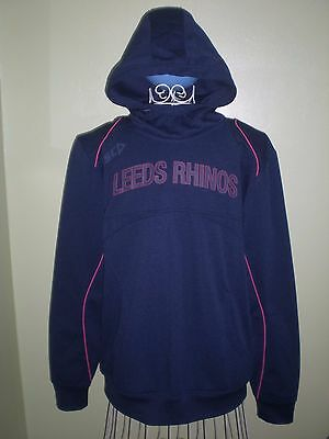 Leeds Rhinos Isc Core Rugby League Pullover Hoodie L - Large Mens  *excellent*