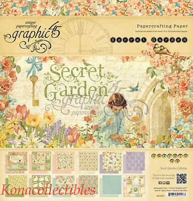 Graphic 45 A Secret Garden 12 X 12 Paper Pad 24/Pkg Original Not Reproduction!