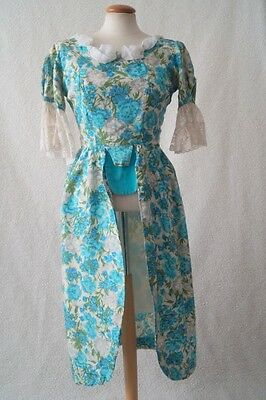 Vintage blue ex theatre costume victorian georgian period dress Size 6