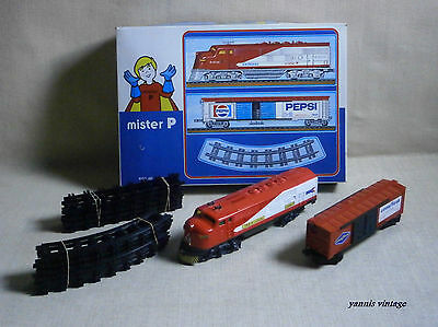 """ Train  "" NIB B/O MADE IN GREECE by Mister P NEW PLASTIC GREEK VINTAGE No T54"