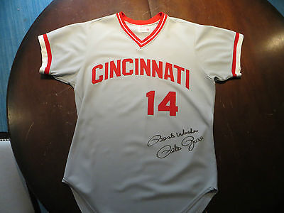Pete Rose Game Used Jersey Signed Autographed Cincinnati Reds MLB Baseball