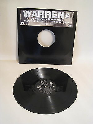 "Warren G - Do You See / Whats Next Promo Copy 12"" Vinyl Record...."