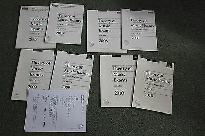 Theory of Music ABRSM Past Practice Papers Grade 4  2007,8,9,&10 & Model Answers
