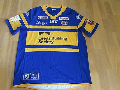 ISC LEEDS Rhinos Building Society RUGBY League ABLETT 2015 - 2016 ADULT Size XL
