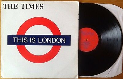 THE TIMES This is London VERY RARE MOD/NEW WAVE 1983 1ST PRESSING VINYL LP EX!