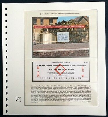 GB UK England 1992 the longest station name in Europa Weltsammlung der Rekorde 1