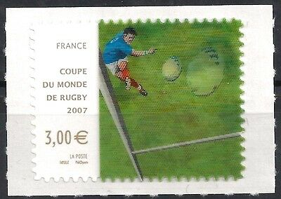 France Frankreich 2007 Rugby World Cup 3-D Hologram Lenticular  Mi 4294 Rar MNH