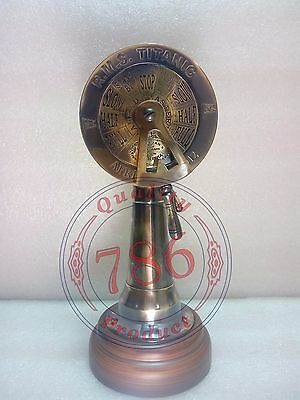 Vintage Ship Engine Room Antique Telegraph Nautical Brass Collectible Telegraph
