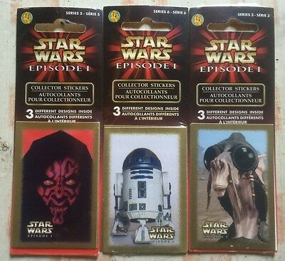 Star Wars Episode I Collectors stickers - 3 unopened packs