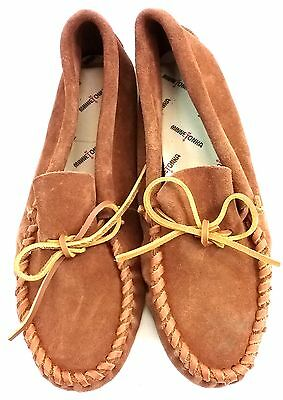 Minnetonka Mens Leather Laced Softsole Moccasin - Brown US 11