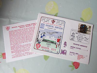 BRISTOL Rovers v BRISTOL City 1st Derby 10 Years 1974 FOOTBALL First Day Cover