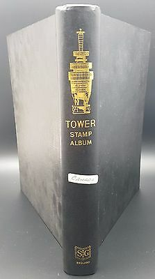 Vintage Stanley Gibbons Tower Stamp Album With Canada Used Collection, QV on