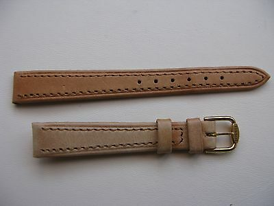 NOS Vintage Tissot 13mm Light Brown/Pink FADED Leather Strap + G/Plated Buckle