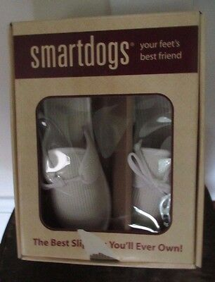 SmartDog. Slippers. Waffle Pattern. Natural. Tie Clogs. Size 7. New in Box