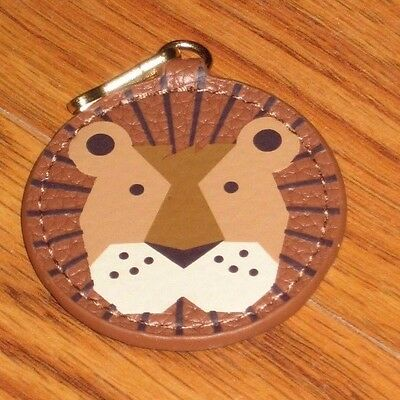 New Estee Lauder Bear Animal Leather Key Chain Fob Purse Bag Charm Gift Limited