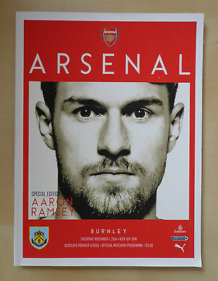 Arsenal v Burnley - Official Matchday Programme - 2014/2015 Season