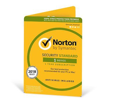 Norton Security 2019, 1 Device, 1 Year Retail License Latest Edition