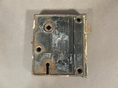 Antique Vintage Door Mortise Lock Skeleton Key Hole No Key For Parts And Repair