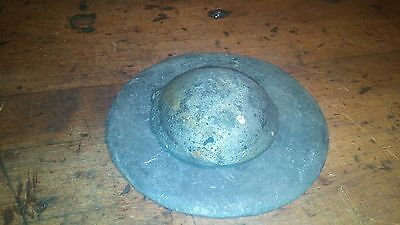 VINTAGE steel steampunk industrial 2 piece disc and orb, fried egg paperweight