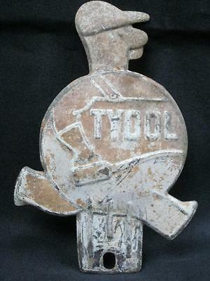 ORIGINAL TYDOL LICENSE PLATE TOPPER gas oil auto petroliana advertising old sign