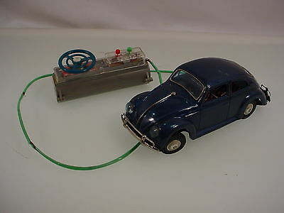 Vintage Tin Battery Operated Volkswagen Bug Bandai Japan -  Tested