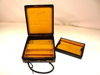 ANTIQUE BRAMAH Co. JEWELRY BOX W/KEY BRAMAH TRAVEL JEWELRY BOX