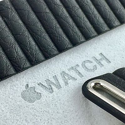 Apple Watch 42MM Black Leather Loop Large MJY62ZM/A Little Use Mint Condition