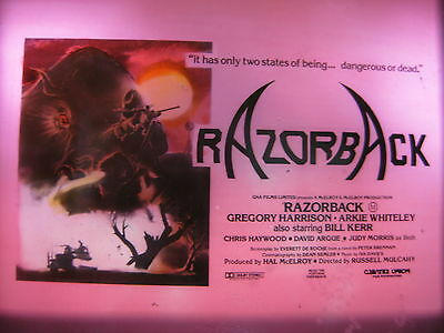 RAZORBACK 1984 Australian cinema movie projector glass slides x 3 wild pig boar