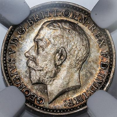 1927 Great Britain Silver Two Pence Maundy KM.812a - NGC MS 65 (Pretty!)