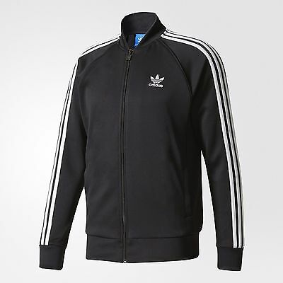 New Men's Adidas Originals Superstar Track Jacket ~Size Medium   #bk5921 Blk