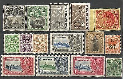 British colonial MVLH/MH/OG KGV selection of all mint worth looking on sale!