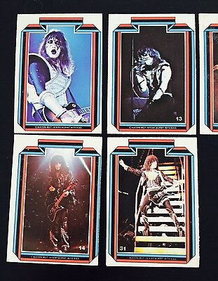 5 collectible KISS trading cards 1978 / cards # 6, 13, 14, 31, 65
