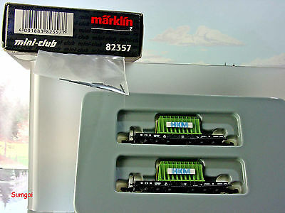 Z Scale Z Gauge Marklin Mini-Club 82357 DB Heavy Duty Flat Car Set w/loads NIB