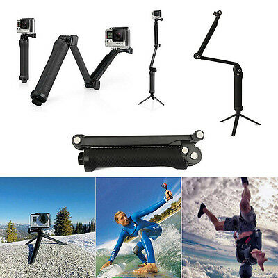 Waterproof 3-Way Extendable Monopod/Selfie Stick/Tripod for GoPro Hero 5 Camera