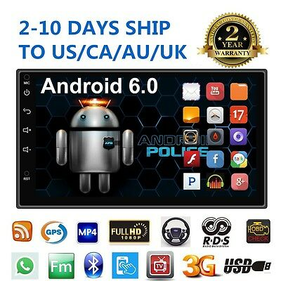 """Quad Core Android 6.0 3G WIFI 7"""" Double 2DIN Car Radio Stereo MP5 Player GPS am"""