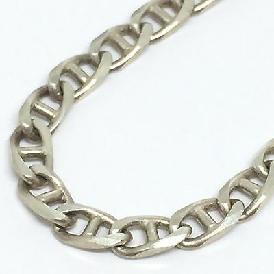 SOLID STERLING SILVER 925 3mm Flat Marina Chain Anklet 24cm