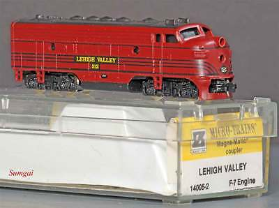 Z scale Micro Trains MTL 14005-2 Lehigh Valley  F7 A-Unit Diesel Loco 512 LNB