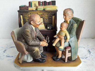 "Norman Rockwell Porcelain Figurine: ""First Annual Visit"""