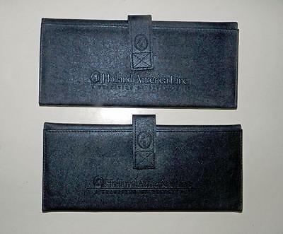 'Holland America' Large Travel Document Holders/Wallet Organizers/etc. x2