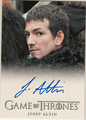 Rittenhouse 2015 Game Of Thrones Season 4 Auto Card  Josef Altin As Pypar