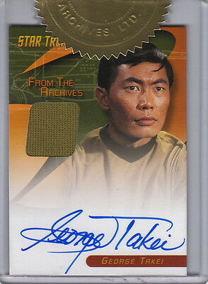 STAR TREK TOS 40th ANNIVERSARY S2 GEORGE TAKEI AUTOGRAPH AND COSTUME CARD