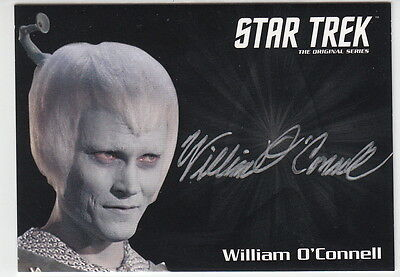 Star Trek Tos 50Th Anniversary Silver Auto Card William O'connell As Thelev