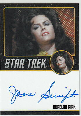 STAR TREK TOS 50th Anniversary AUTO CARD BLACK BORDER JOAN SWIFT AS AURELAN KIRK
