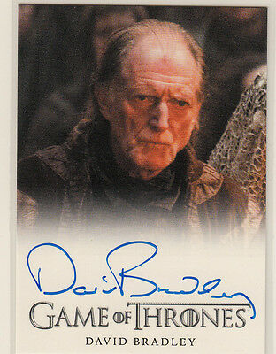 Rittenhouse 2015 Game Of Thrones Season 4 Auto Card David Bradley As Walder Frey