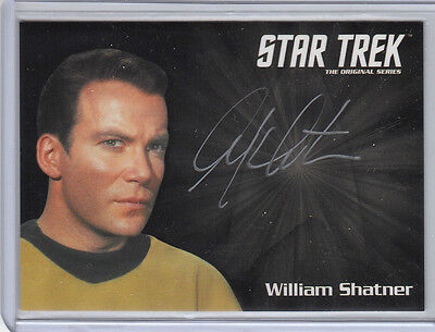 Star Trek Tos 50Th Anniversary Silver Auto Card William Shatner Kirk