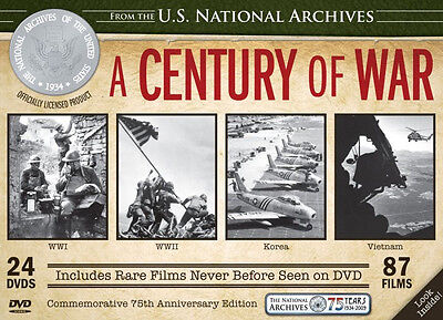 National Archives: A Century of War (DVD, 2009, 24-Disc Set) 87 Films