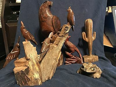 IRONWood Figurines, Eagle, Roadrunner/Woodpecker, Cactus, Frog, Quails