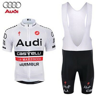 Completo ciclismo/Cycling Jersey and pants  Team Castelli Audi white