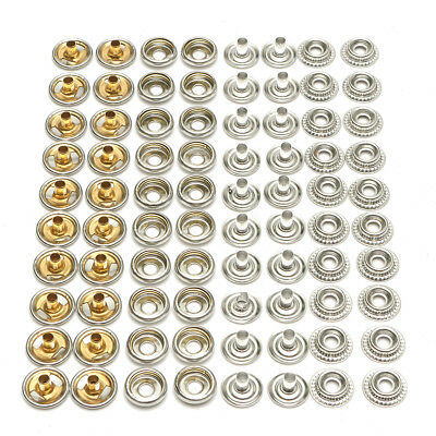 80x Stainless Steel Snap Fastener Kit For Boat Marine Cover Canvas Stud Cap Stud