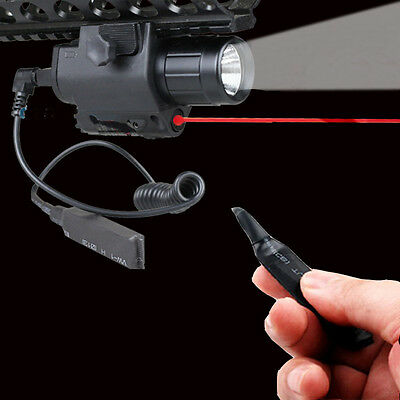 Tactical Red Laser Sight Q5 LED FlashLight Combo for Rifle Picatinny Rail